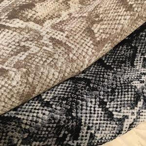 2 snakeskin sleeveless dresses